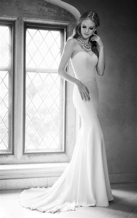 Silk Fit and Flare Bridal Gown  Martina Liana Wedding Dresses