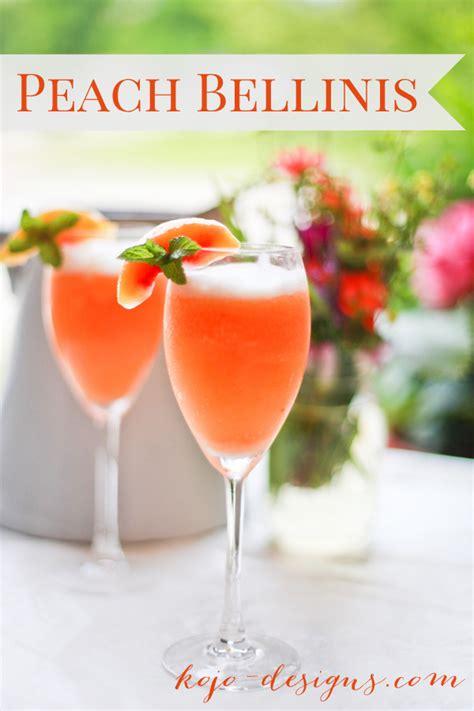 peach bellinis recipe dishmaps