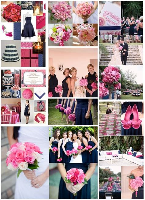 navy blue and pink wedding colors wedding ideas