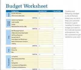 Blank printable monthly budget worksheet calendar template 2016