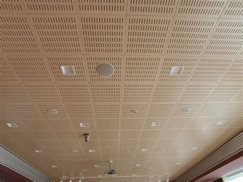 Sound Absorbing Mdf Ceiling Tiles Wood Shade Hide In By Itp Sound Absorbing Ceiling Tiles