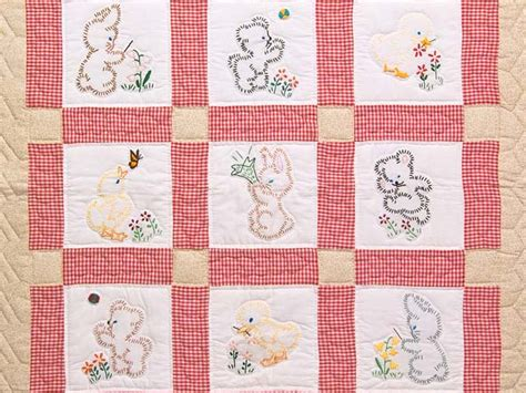 Embroidery On Quilts by Embroidered Quilt Magnificent Meticulously Made Amish
