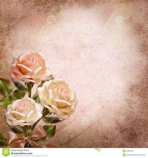 imagenes de rosas vintage ramo de rosas en un fondo del vintage stock de ilustraci 243 n