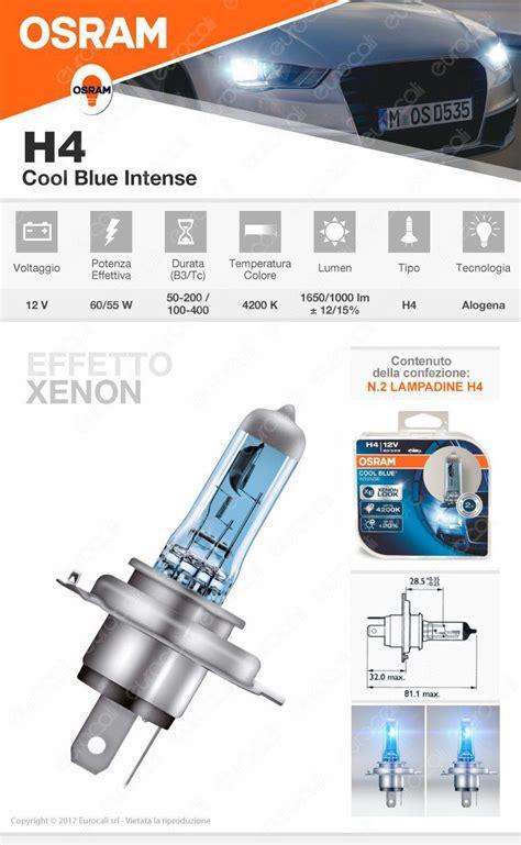 lade h4 effetto xenon ladine osram h4 cool blue xenon