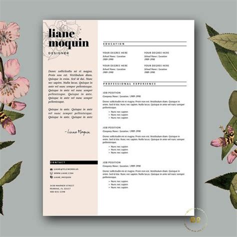 free stylish resume templates resume templates resume and cover letters on