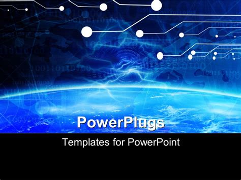 powerpoint template technology banner on a soft blue
