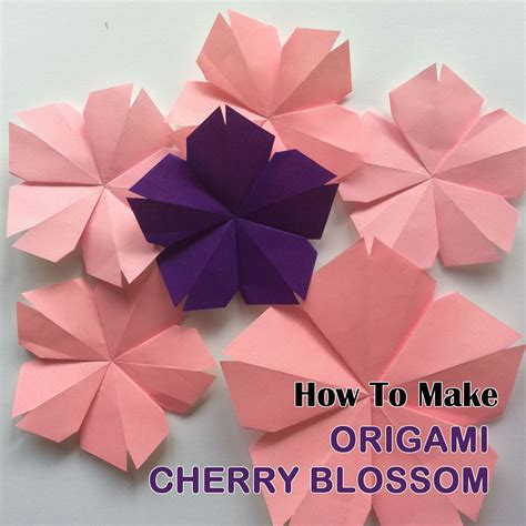 Origami Cherry - how to make origami cherry blossom easy origami