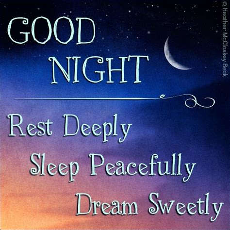 For A Nights Sleep by Rest Deeply Sleep Peacefully Sweetly