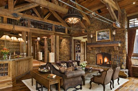 Rustic Living Room by 40 Awesome Rustic Living Room Decorating Ideas Decoholic