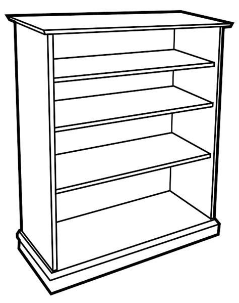 shelf black and white clipart 15