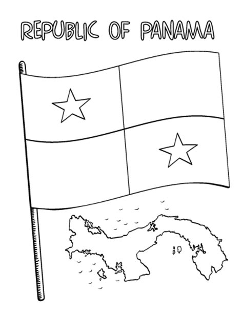 Panama Coloring Pages Free Flag Of Panama Coloring Pages by Panama Coloring Pages