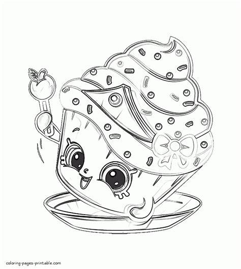 86 shopkins coloring pages cupcake shopkins season