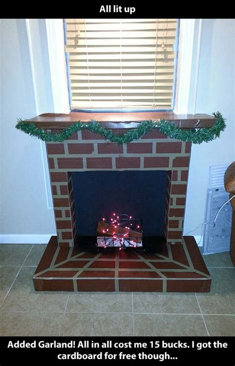How To Make Your Own Fireplace by How To Make Your Own Cardboard Fireplace The Meta Picture