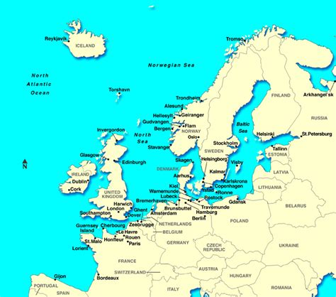 map of northern europe maps of europe countries northern europe region maps details pictures