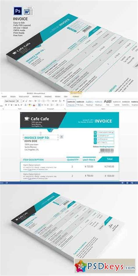 invoice design vector business invoice template 331406 187 free download photoshop