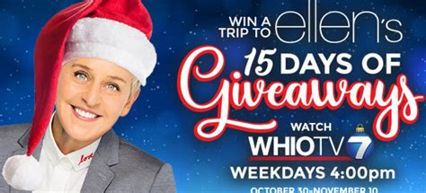 Ellen 15 Days Of Giveaways 2017 - whio viewers can get free tickets to ellen giveaway shows