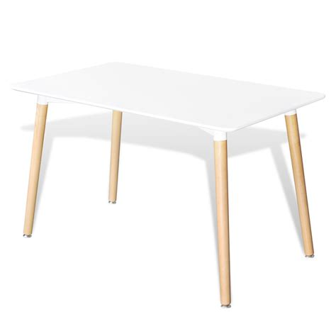 vidaxl co uk matte white rectangular dining table