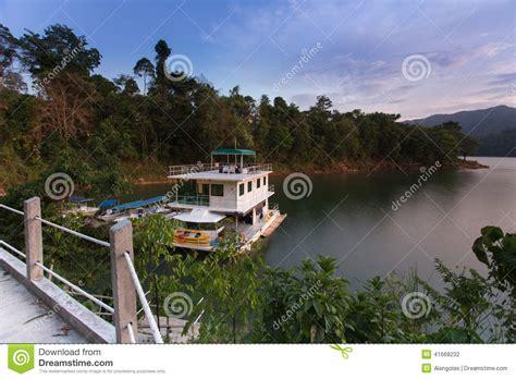 boat house royal belum houseboat of royal belum stock photo image of fishing