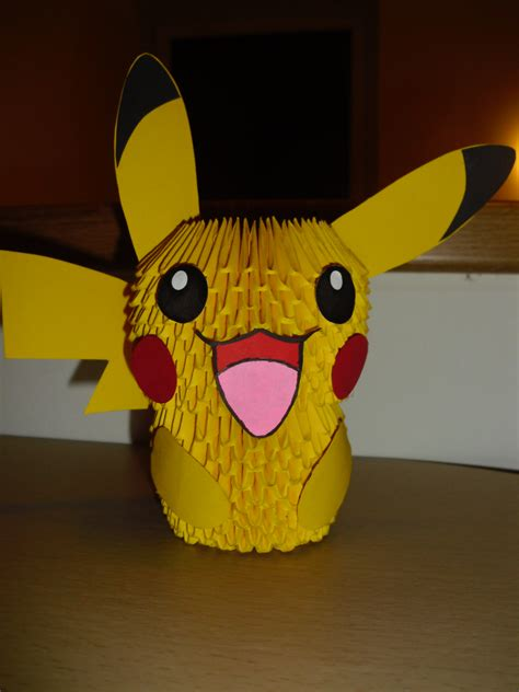 How To Make A 3d Origami Pikachu - 3d origami pikachu by justtree on deviantart