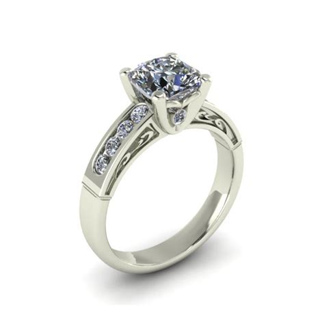 engagement ring with scroll pattern the goldsmiths ltd