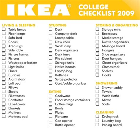 room shopping list freshman college room essentials checklists