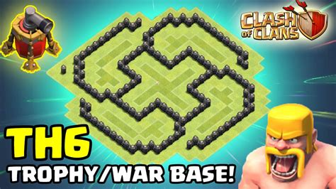 th6 layout new update clash of clans th6 trophy war base layout quot mini spiral