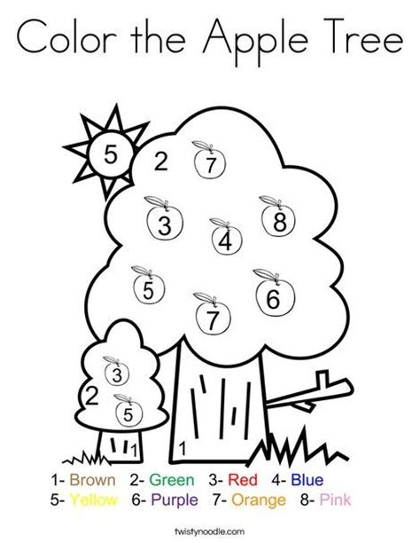 preschool coloring pages apple tree 94 best autumn coloring pages worksheets and mini books