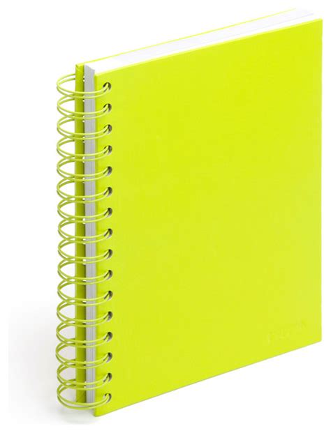 Spiral Notebook Lime Green Medium Modern Desk Lime Green Desk Accessories