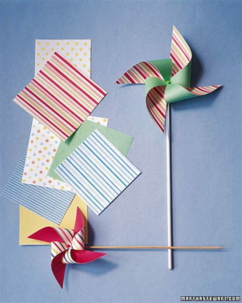 How To Make Paper Windmill For - paper pinwheels martha stewart