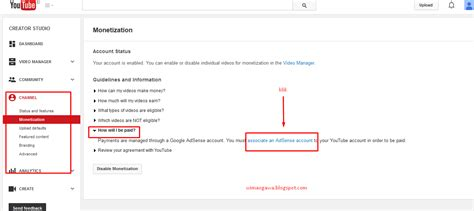 cara membuat akun adsense melalui youtube cara mudah mendaftar google adsense melalui youtube