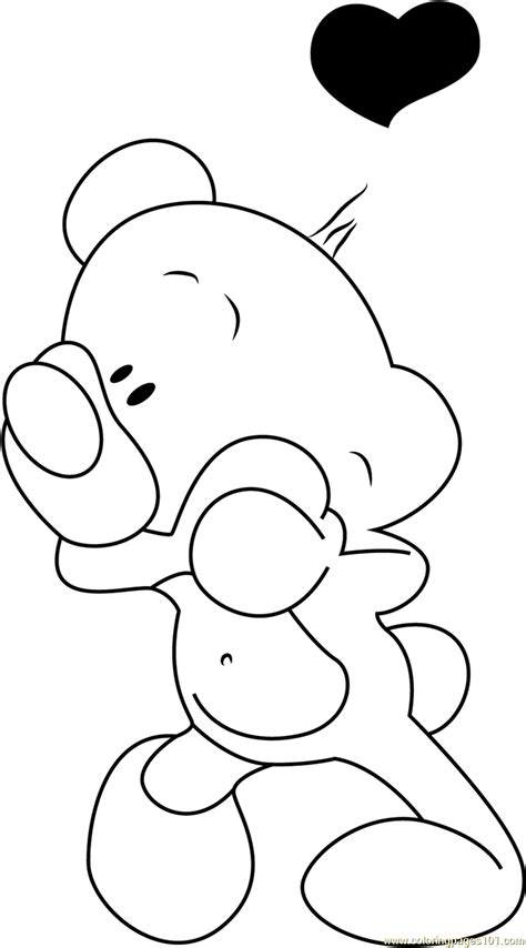 love bear coloring pages pimboli bear in love coloring page free pimboli coloring