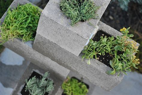 How To Make A Cinder Block Planter by Hometalk Create A Cinder Block Vertical Planter