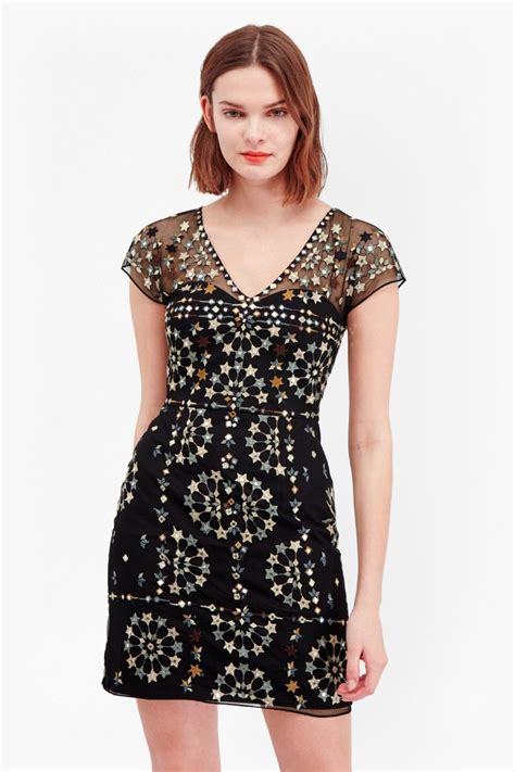 Lv Dress Mini evie sparkle embroidered mini dress collections