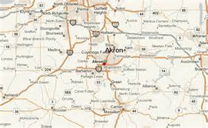 Akron Ohio Map by Akron Location Guide