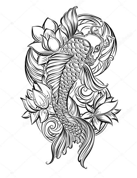 dessin carpe koi tatouage galerie tatouage