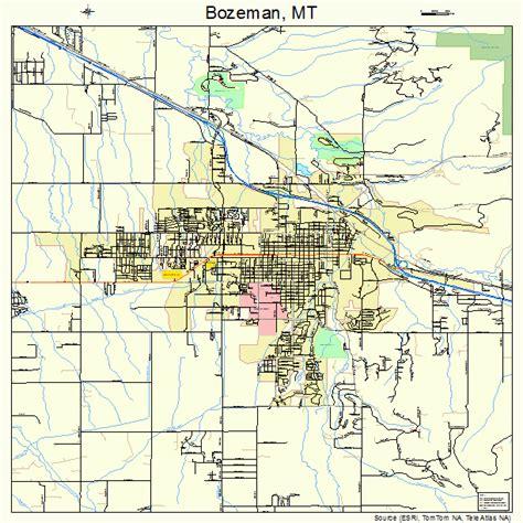 bozeman mt map bozeman montana map 3008950