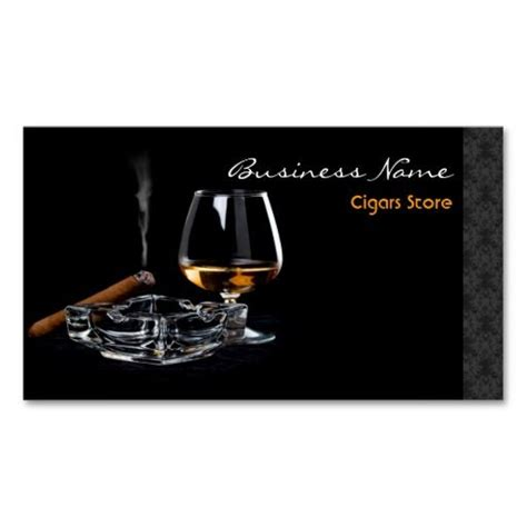 Liquor Store Business Card Templates by Cigars Store Business Card Cigar Store