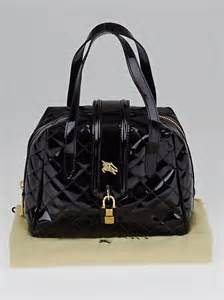 Burberry Patent Manor Bag by Burberry Black Quilted Patent Leather Baby Manor Bag
