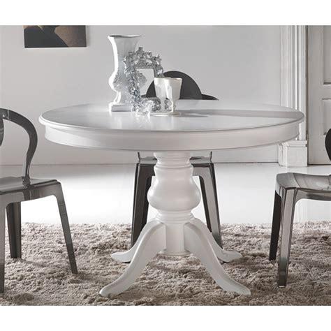tavolo tondo allungabile tavolo tondo allungabile laccato bianco