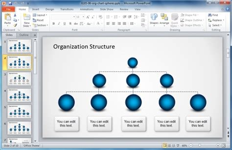 Different Types Of Organizational Structures And Charts Organizational Chart Powerpoint Template