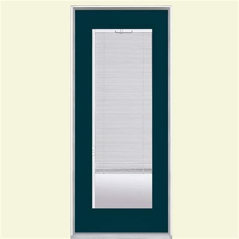 Exterior Door Blinds Masonite 32 In X 80 In Mini Blind Painted Steel Prehung Front Door With No Brickmold 30605