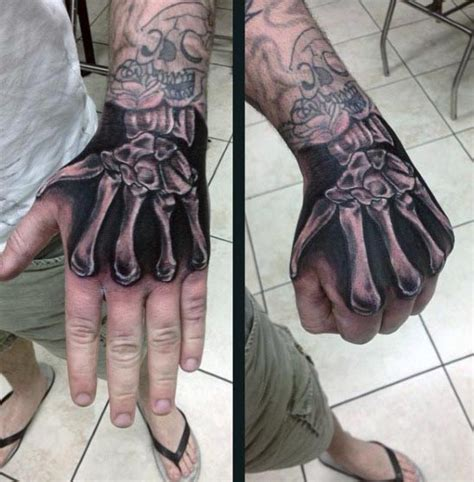 bone hand tattoo 70 bone designs for skeletal ink ideas