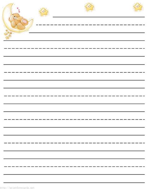 printable writing paper primary teddy bear free printable stationery for kids primary