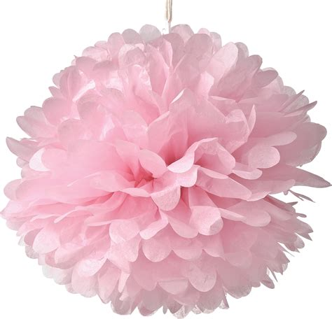Kalung Pompom Tassel Flower Necklace Pink pink 15 inch tissue paper flower pom pom bazaar
