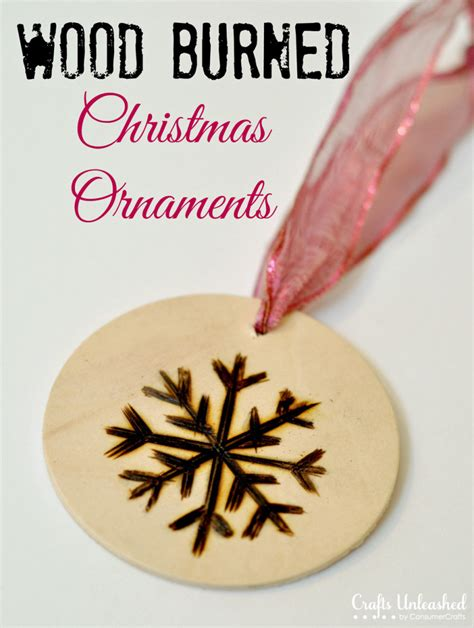 christmas ornaments wood burned ornament tutorial