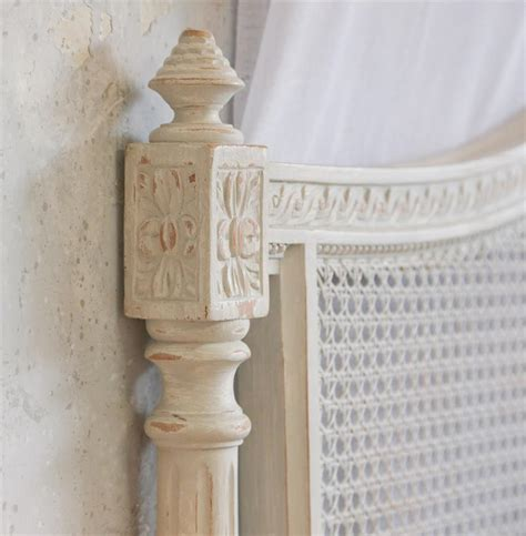 Louis Xvi French Country Natural White Painted Cane Country Headboards