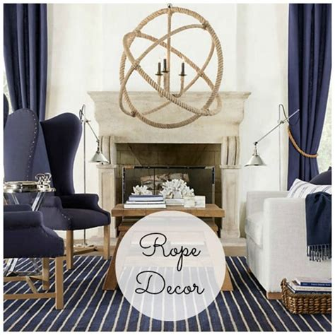 nautical decorating ideas rope decor nautical decorating ideas ls plus