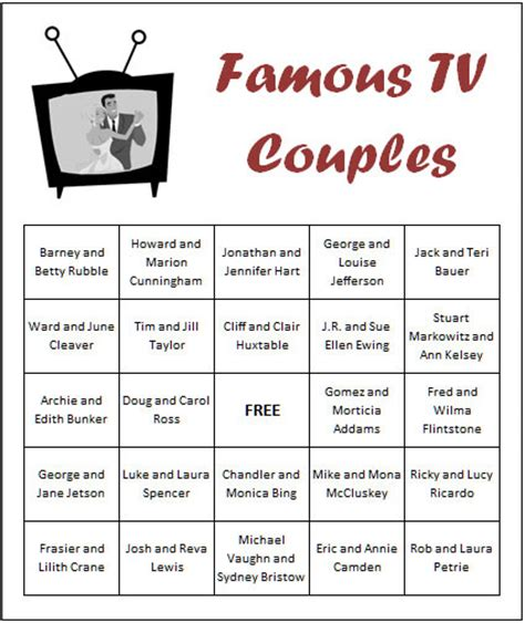 easy printable bridal shower games couple game shower wedding ideas featuring famous tv couples