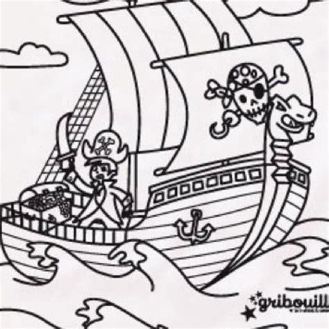 dessin bateau pirate imprimer coloriage jack le pirate disney