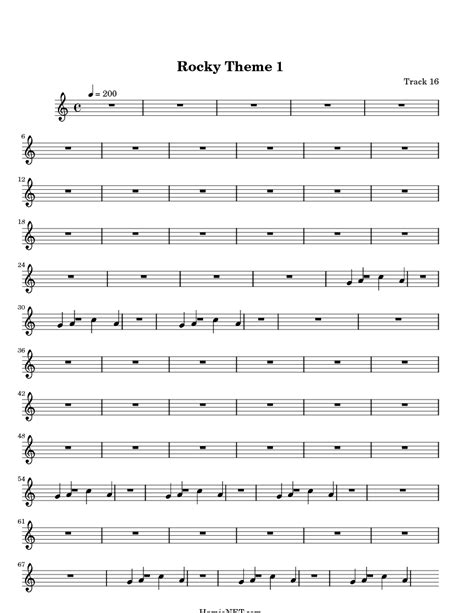 theme song to rocky rocky theme 1 sheet music rocky theme 1 score hamienet com